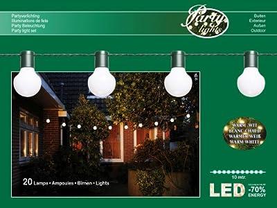 LED PARTYLICHTERKETTE 10m WEIßE LEDs 20er Ø 5cm LICHTERKETTE von Coen Bakker auf Lampenhans.de