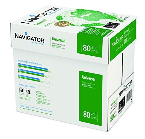 Navigator Universal - Papel de impresión 2500 hojas (A4, 5 x 500 hojas, 80...