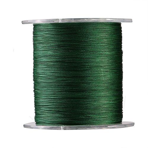 Alomejor 1300m Angelschnur 4Stränge Geflochten Super Strong Fisch Seil Kordel Multifil Fisch Line 9Größen in grün, grün, 2