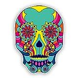 2x Pegatinas de vinilo de calavera México Festival día de los muertos # 7434
