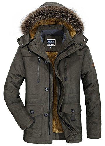 SZYYSD Herren Winter Warm Baumwolle Militär mit Kapuze Jacken Mäntel Mens Military Hooded Coat Jacket Parka