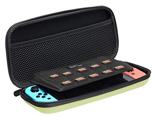 AmazonBasics - Custodia di trasporto per Nintendo Switch, Giallo neon