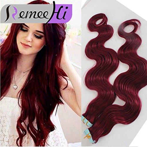 Remeehi Haarverlängerung, 66 cm (26 Zoll), 12# Light Brown (Extensions In Tape Zoll Hair 26)