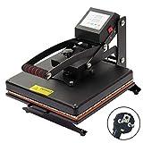 D4P Display4top Presse à Chaud Heat Press Machine Machine de Sublimation de Transfert de Presse de Chaleur de T-Shirt, Utilisation pour Industriel, Professionnel et à la Maison (37.5cm x 37.5cm)...