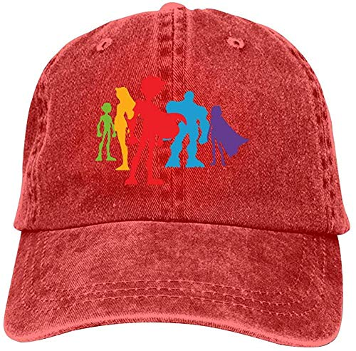 j65rwjtrhtr Mütze Hut Unisex Teen Ti-tans Baseball Caps Vintage Jeans Denim Cotton Adjustable Hat