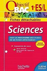 Objectif Bac - Fiches détachables - Sciences 1re ES/L