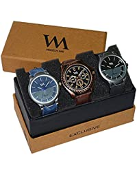 WM Stylish Watches For Boys And Men Combo Gift Set With Sunglasses AWC-005-AWC-006-AWC-004aeons