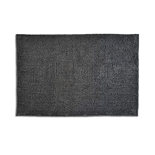 Allure Bath Fashions Non-Slip Bath Mats from Anti Slip Plush Supersoft Durable Microfibre Chenille Bobble Absorbent and Quick Drying Bath Mat Non Slip for Kids or Adults (60 x 90, Charcoal)