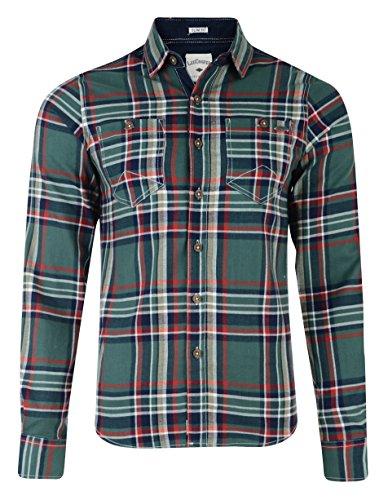 Lee Cooper Wandsworth Camicia a manica lunga a quadri verde Small