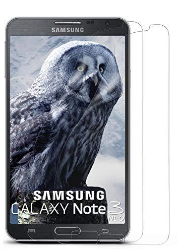 moex 2X Samsung Galaxy Note 3 Neo | Schutzfolie Klar Bildschirm Schutz [Crystal-Clear] Screen Protector Display Handy-Folie Dünn Bildschirmschutz-Folie für Samsung Galaxy Note 3 Neo Bildschirmfolie