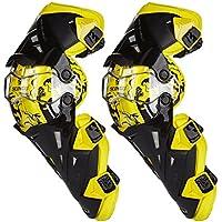 Carreras de Rugby de la motocicleta de la fibra de carbono Off - Equipo del caballero de la rodilla de la rodilla del vehículo de camino ( Color : Amarillo )