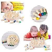 Fahooj-Kinder-Hlzerne-Memory-Match-Stick-Schachspielpdagogisches-Spielzeug-Gehirn-Training-Eltern-Kind-Interaktionsspiel-SpielzeugSchach-Schachbrett-Wrfel-Satz