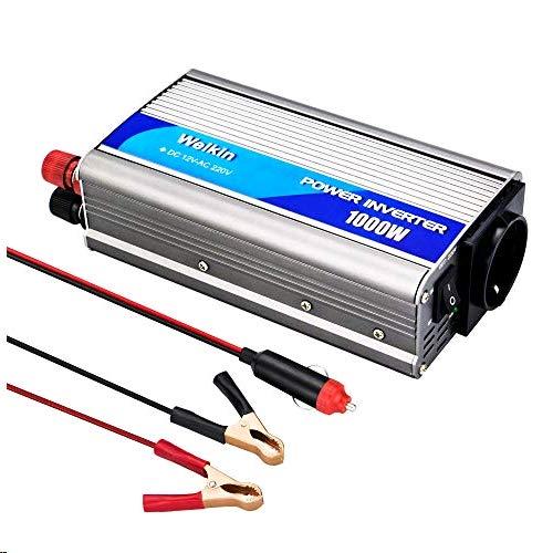 weikin Transformateur de Tension Convertisseur 1000W DC 12V vers AC 220V 230V 240V convertisseur Sinus analogique pour la Voiture