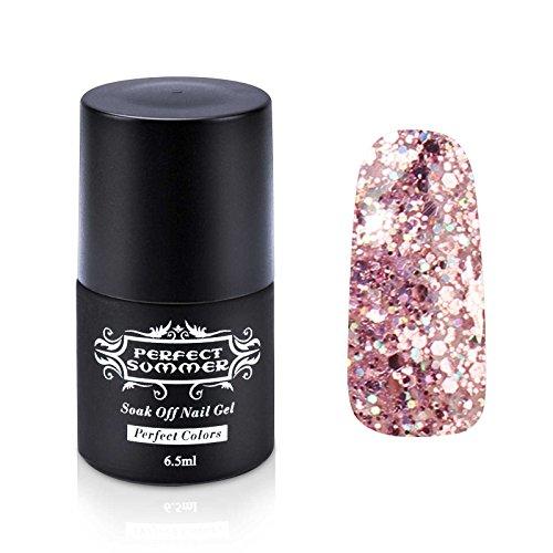 Vernis UV Gel - Perfect Summer Soak Off Vernis à Ongles Gel Semi Permanent Nail Polish 6.5ml Couleur 300