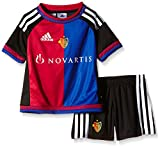 adidas Kinder Trainingsanzug FC Basel Home Mini Kit, Black/White/Bolred/BO, 104, S88654