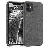 kwmobile Cover per Apple iPhone 11 - Custodia Morbida in Tessuto per Cellulare - Soft Case...