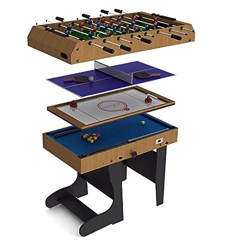Riley - Table de Jeu pliable 4 en 1 -