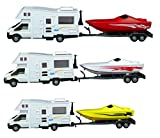 Toyland (MD - Motorhome et Vedette Hors-Bord et en Plastique de 35 cm avec remorque, modèle de Jouet