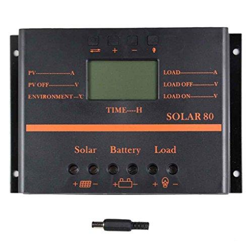 Solar-Panel-Controller, 80A 12V / 24V Solarladeregler Batterie-Board Regulator PWM Photovoltaic Power Generation Batterie Regulator