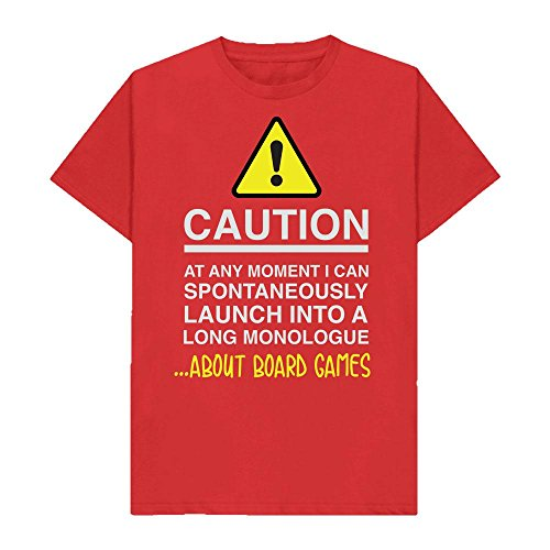Caution - at Any Moment I Can Monologue About. Board Games - Hobbies - Tshirt - Shaw T-Shirts® - Sizes Small to 2XL - Many Colours Available - Perfect Gift