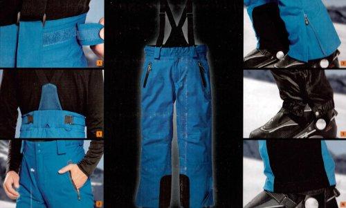 Herren Skihose Hochfunktionell mit Hosenträgern Snowboardhose Schneehose Gr. 50 Farbe: Blau (Für Herren Hosenträgern Skihose Mit)