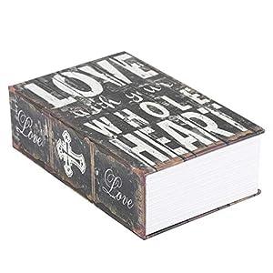 Secret Book Safe – Passwortsperre versteckte Geldkassette, tragbare Safe für Geld, Schmuck, Buch und Pass(LOVE)
