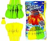 Toi-Toys 222 Wasserbomben QUICK/111 in 60 Sekunden/selbstschließend/WATER BALLOONS SEAL/6 Bündel á 37 Wasserbomben/Wasserbomben/SELF SEAL