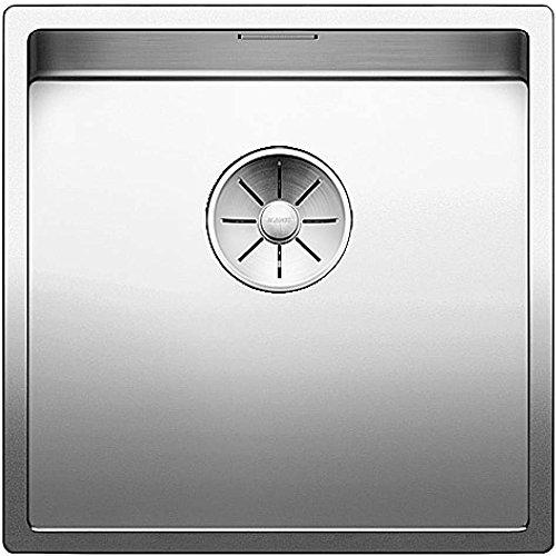 Blanco 521573 CLARON Küchenspüle 400-U Einbauspüle aus Edelstahl zum Unterbau für die Küche, Edelstahl Seidenglanz (Akzent 400 Möbel)