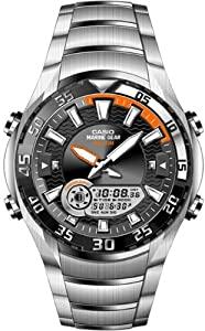 Reloj de caballero CASIO Collection AMW-710D-1AVEF de cuarzo, correa de acero inoxidable color varios colores (con cronómetro, alarma, luz) de Casio