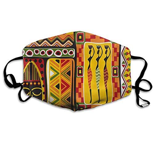 Masken,Masken für Erwachsene,African Elements Decorative Historical Original Striped Masks,Washable and Reusable Cleaning Mask,For Allergens,Exhaust Gas,Running,Cycling,Outdoor Activities (Jason Maske Original)