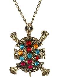 Fashion Halskette Kristall Turtle Turtle-Anhänger lange Halskette Tier Schmuck (beinhaltet Boolavard Schmuckkästchen ®) durch Boolavard ® TM