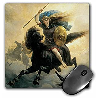 3dRose mp_127225_1 8 x 8-Inch The Valkyrie Xpeter Nicolai ARBO Mouse Pad