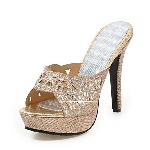 Tacchi A Spillo/Indossare Pantofole Fuori La Parola/Paillettes Scarpe Mamma A