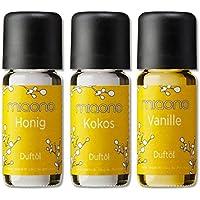 Duftoel Vanille, Kokos, Honig von miaono - feines Aromaoel Set - Duftöl für den Aroma Diffuser und die Duftlampe... preisvergleich bei billige-tabletten.eu