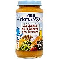 NESTLÉ Purés tarrito de puré de verduras y carne, variedad Jardinera de la huerta con Ternera, para bebés a partir de 6 meses - Paquete de 6 tarritos de 250 g