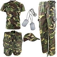 Kombat UK niños Kit del ejército DPM Camuflaje Explorer, Infantil, Color Camuflaje, tamaño 3-4 años