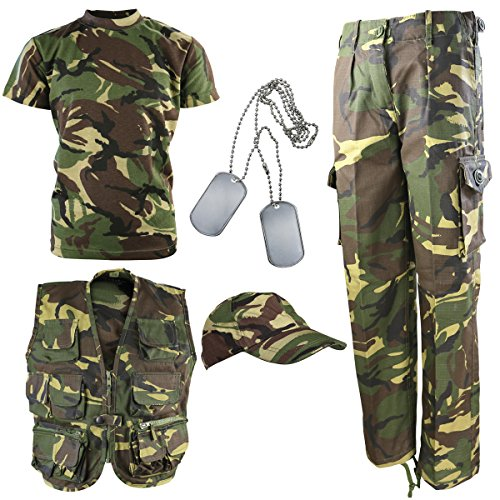 Kombat UK Kinder DPM Camouflage Explorer Armee Kit 9-10 Jahre ()