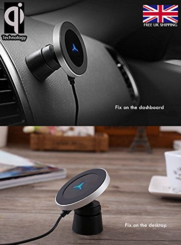 Magnetisches 2-1-Induktions-Ladegerät (Qi) für Handys fürs Auto und zu Hause von W5