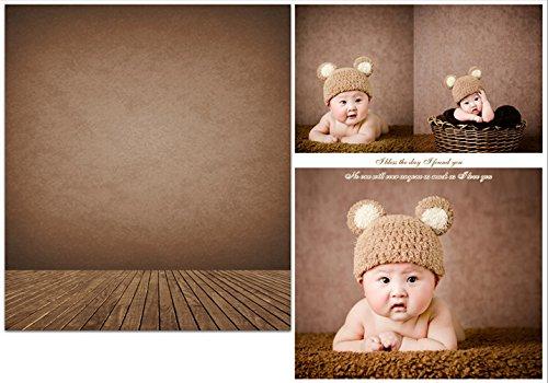 1.5x2.1m braun neugeborenen fotografie hintergrund holzboden fur Baby Kids (Fotoshooting Hintergrund Baby)