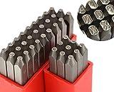 Wokesi 36pcs 1.5mm elevata durezza in acciaio al carbonio numeri e lettere maiuscole di punzoni timbri in metallo per Mold gioiello making die