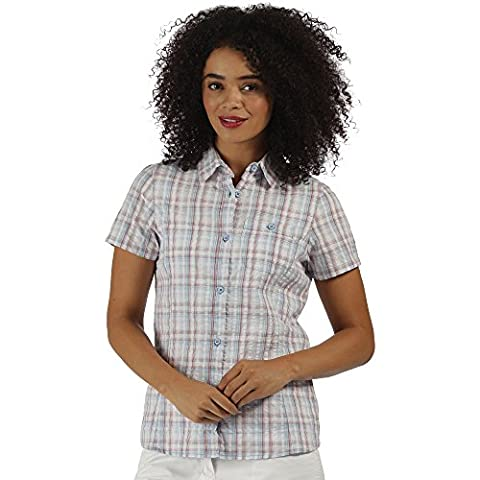 Regatta Great Outdoors Womens/Ladies Jenna Checked Short Sleeve Shirt (22)