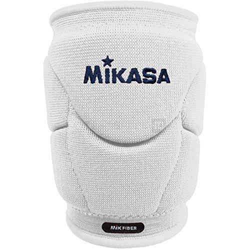 Mikasa Mt9 Kinpy Coppia Ginocchiere Volley Pallavolo Professionale Bianco (JUNIOR)