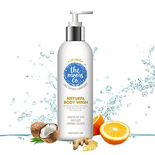 The Moms Co. Natural Body Wash, Coconut Moisturizing Pregnancy Body Wash for Moms and Moms to Be (200ml / 6.8 Fl Oz)