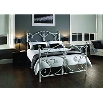 Metal Beds Florence Victorian Style White Frame Traditional Bedstead ...