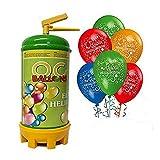 ocballoons - Bombola Elio per palloncini 1,8 LT + 25 Palloncini Compleanno OMAGGIO