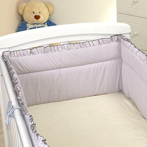 Preisvergleich Produktbild Nestchen Rüschen mit Kopfschutz für 120x60 Bett 350x30cm Bettumrandung Bett Baby Umrandung Schutz U11