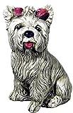 Figura Perro Yorkshire DE Piedra para Jardin O Exterior 36cm.