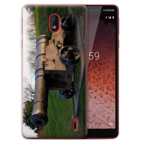eSwish Gel TPU Hülle/Case für Nokia 1 Plus 2019 / Alte Kanone Muster/Britischen Küste Kollektion (Cannon Kamera Und Drucker)