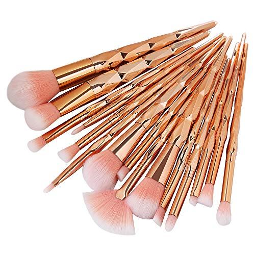 Professionelle Make-up Pinsel Kits Verkauf Gut Make-up Pinsel Set 15 Stücke Bunte Griff Weichem Nylon Haar Fan Kopf Puder Make-up Pinsel Schönheit Werkzeug - Gold,Gold