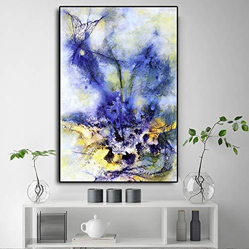 Bunte Landschaft Abstrakte Ölgemälde Auf Leinwand Cuadros Kunst Poster Und Drucke Wandkunst Bild Für Wohnzimmer Dekoration 20X30 cm Ungerahmt PA629 -
